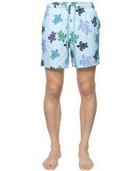 Vilebrequin   Blue Moorea Sea Turtles Print Swim Shorts for Men   Lyst