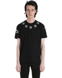 Givenchy | Black Cuban Star Printed Cotton Jersey T-shirt for Men | Lyst