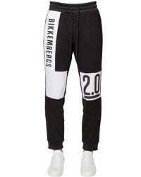 Bikkembergs | Black Logo Printed Cotton Sweatpants for Men | Lyst