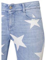 Stella McCartney | Blue Skinny Stars Printed Stretch Denim Jeans | Lyst