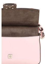 Fendi | Pink Micro Double Baguette Stud Leather Bag | Lyst