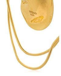 MISHO - Metallic Pebble Hoop Earrings - Lyst