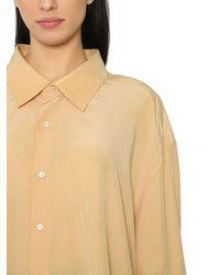 Jil Sander | Natural Oversized Silk Crepe De Chine Shirt | Lyst
