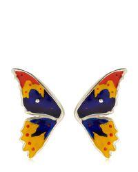 Cantini Mc Firenze | Blue Half Butterfly Earrings | Lyst