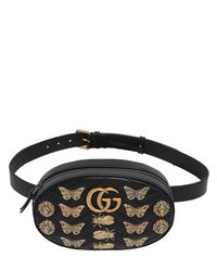 960db55fac9 Lyst - Gucci Medium Gg Marmont Belt Pack W  Appliqués in Black
