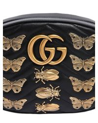 Gucci - Black Medium Gg Marmont Belt Pack W/ Appliqués - Lyst