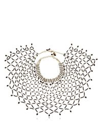 Rosantica | Black Rete Onyx Beaded Necklace | Lyst
