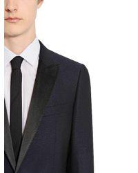 Lanvin Blue Wool Mohair Tuxedo Suit for men