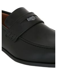 Jimmy Choo - Black Leather Penny Loafers for Men - Lyst