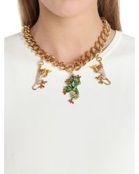 Casadei - Metallic Amazon Jungle Chain Necklace W/ Charms - Lyst