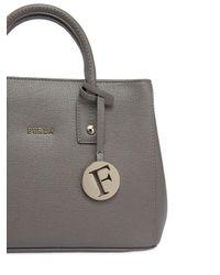 Furla - Gray Mini Linda Saffiano Leather Bag - Lyst