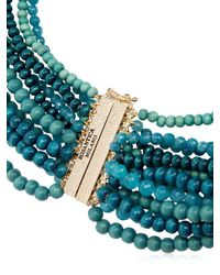 Rosantica - Blue Inganno Beaded Necklace - Lyst