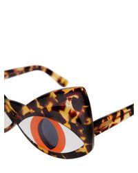 Yazbukey - Brown Cat Face Acetate Sunglasses - Lyst
