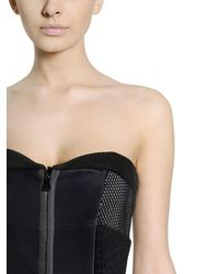 Fendi - Blue Strapless Bustier Techno Silk Dress - Lyst