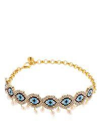Shourouk - Multicolor Eye Beaded Choker W/ Pearls - Lyst