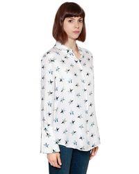 Equipment - White Stars Printed Silk Shirt - Lyst