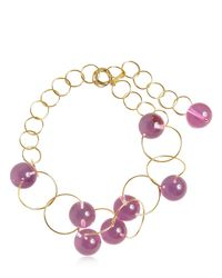 Marni - Pink Multi Spheres Chocker Necklace - Lyst