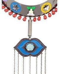 Maria Francesca Pepe - Metallic Swarovski Crystals Collar Necklace - Lyst