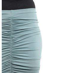 Max Mara - Blue Caliga Draped Viscose Jersey Midi Skirt - Lyst