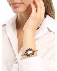 Alcozer & J - Metallic Ladies Portrait Garnet Bangle Bracelet - Lyst