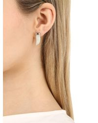 Iosselliani - Metallic Horn-shaped Jade Stud Earrings - Lyst