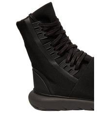 Y-3 - Black Qasa Boot Nylon High Top Sneakers for Men - Lyst