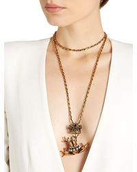 Alcozer & J - Metallic Frog Prince Necklace - Lyst