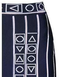 Peter Pilotto - Blue Pleated Stretch Viscose Knit Midi Skirt - Lyst
