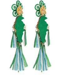 Shourouk - Parrots Green Earrings - Lyst