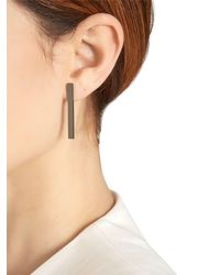 Eshvi - Black Rebel Bar Earrings - Lyst