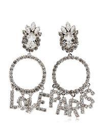 Shourouk | Metallic Love Paris Earrings | Lyst