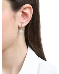 Apm Monaco - Metallic Palm Tree Hoop Earrings - Lyst
