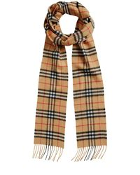 Burberry - Multicolor Runway Fw18 Vintage Check Cashmere Scarf - Lyst