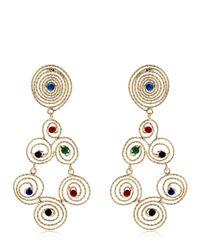 Rosantica - Metallic Soffio Autumn Clip-on Earrings - Lyst