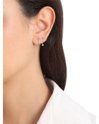 Stone Paris - Metallic Baguette Tiny Hoop Mono Earring - Lyst