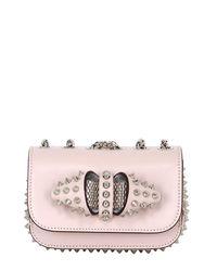 Christian Louboutin | Pink Leather Shoulder Bag | Lyst