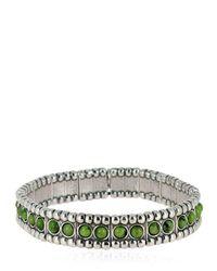 Philippe Audibert - Metallic Wappo Green Agate Stretch Bracelet - Lyst