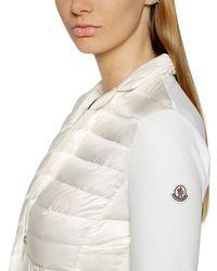 Moncler | White Techno Ottoman Knit & Nylon Jacket | Lyst