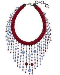 Sharra Pagano | Multicolor Beaded Fringe Necklace For Lvr | Lyst