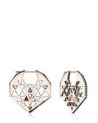 Noor Fares - Metallic Chandbali Style Earrings - Lyst