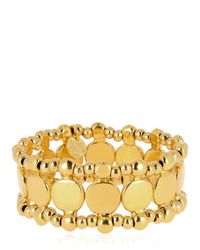Philippe Audibert - Metallic Zacharie Gold Stretch Bracelet - Lyst