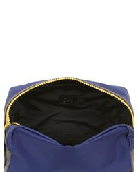 Dolce & Gabbana - Blue Nylon & Dauphine Leather Toiletry Bag - Lyst