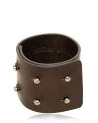 Rick Owens - Brown Leather Bracelet for Men - Lyst