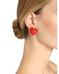 Dolce & Gabbana - Multicolor Dg Heart Clip-on Earrings - Lyst