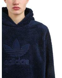 """Adidas Originals - Blue Kapuzensweatshirt Aus Plüsch """"winterized"""" for Men - Lyst"""