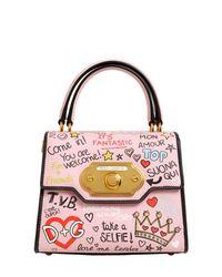 Petit Lyst Gabbana Sac Welcome Dolce Cuir Graffitis amp; Avec En 1n7dpq