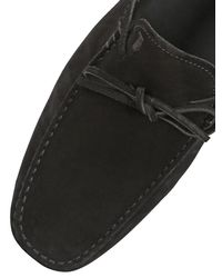 Tod's - Black Gommino 122 Suede Driving Shoes for Men - Lyst