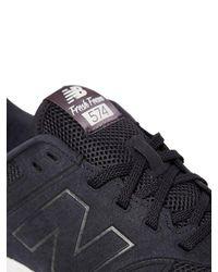 "New Balance - Blue Sneakers ""574 Fresh Foam"" In Eco Nabuk for Men - Lyst"