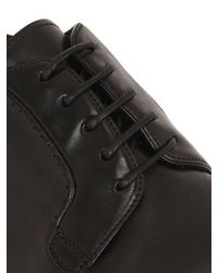 Silvano Sassetti - Black Washed Horse Leather Derby Shoes for Men - Lyst
