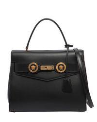 Versace Black Lady D Leather Top Handle Bag